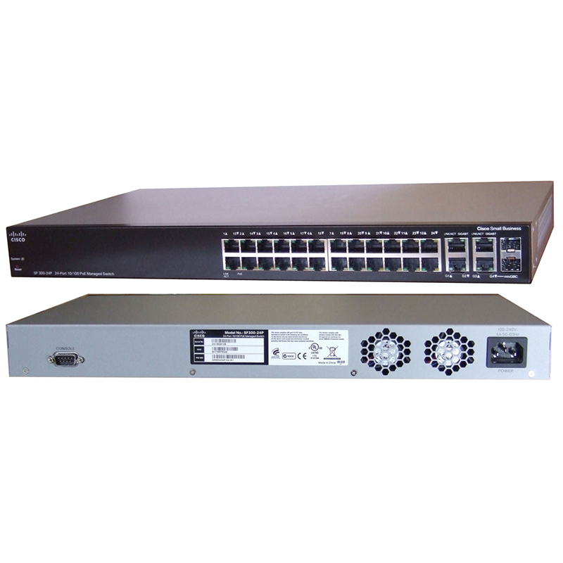 Cisco Switch Layer2/3 SF300-24 PoE SRW224G4P-K9-EU, CISCO SRW224G4P-K9-EU