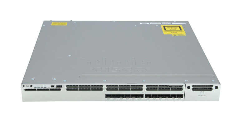 Cisco WS-C3850-12S-E, Cisco WS-C3850-12S-E, 12 port 10/100/1000 SFP Fibric ports IP service