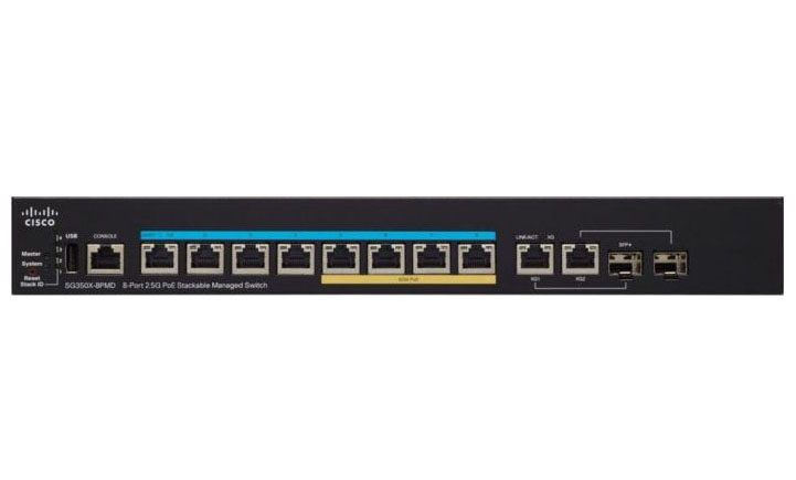 Cisco SG350X-8PMD-K9-EU, Cisco SG350X-8PMD-K9-EU - Switch Cisco SG350-8PMD 8-Port 2.5G PoE Stackable Managed Switch