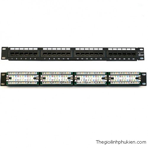 PATCH PANEL 24 PORT - CAT5, PATCH PANEL 24 PORT, PATCH PANEL 24 PORT CAT5, PATCH PANEL 24 PORT DÙNG CHO CAT5