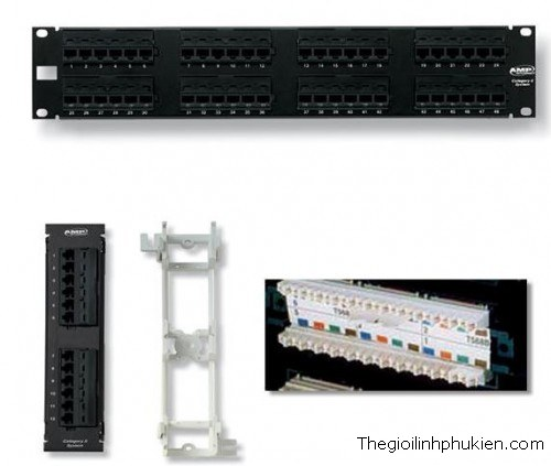 PATCH PANEL 24 PORT CAT6, PATCH PANEL 24 PORT, PATCH PANEL 24 PORT CAT6, PATCH PANEL 24 PORT DÙNG CHO CAT6
