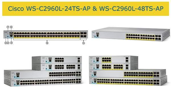 Switch cisco Catalyst 2960L WS-C2960L-24TS-AP và cisco WS-C2960L-48TS-AP