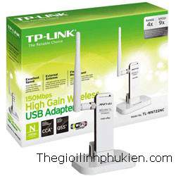 High Gain Wireless USB Adapter TL-WN722NC 150Mbps, Bộ thu USB Wifi Adapter TL-WN722NC 150Mbps