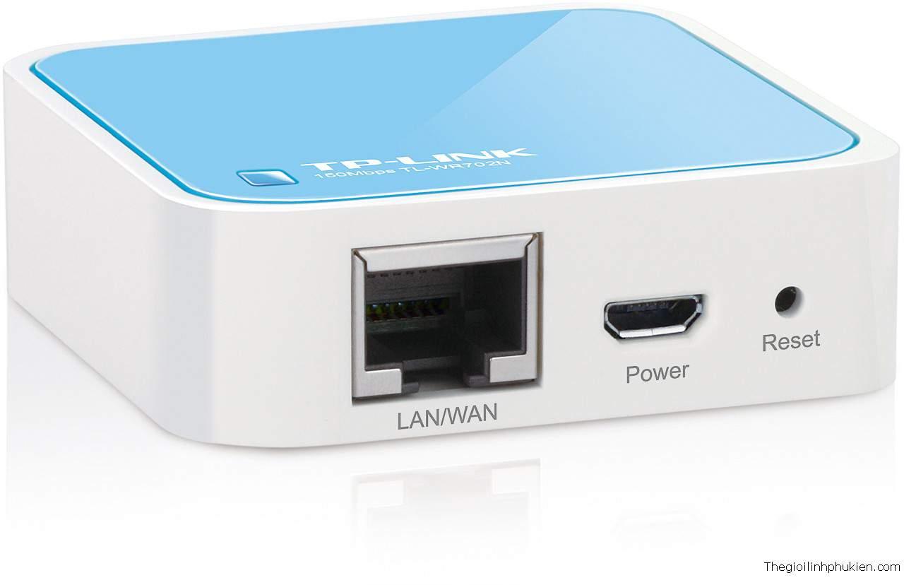 Wifi TP-Link N Nano Router TL-WR702N 150Mbps Wireless Lite N Router | bộ phát wifi  tp-link chính hãng giá rẻ nhất hà nội