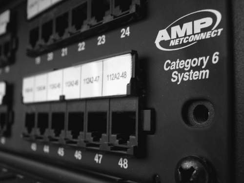AMP Category 6 Patch Panel, 48-Port