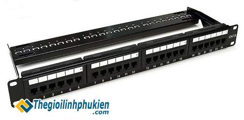 AMP Category 6 Patch Panel 24P