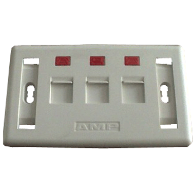 Wall Plate AMP 3 Port, Mặt Wall Plate AMP 3 Port, Bán Mặt Wall Plate AMP 3 Port