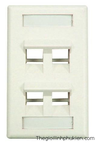 Wall Plate AMP 4 Port, Mặt Wall Plate AMP 4 Port, Bán Mặt Wall Plate AMP 4 Port