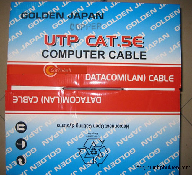 Cáp mạng Golden Japan Cat5e, ban cap mang Golden Japan, day cap mang