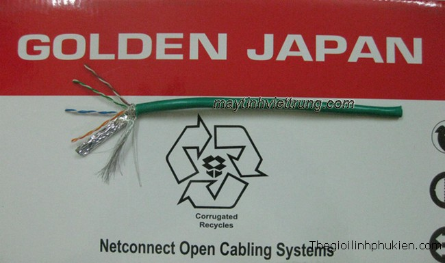 CABLE MẠNG, CABLE MANG, MUA CABLE MẠNG, CABLE MẠNG GOLDEN JAPAN SFTP CAT5E